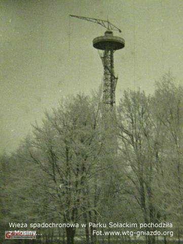 była wieża spadochronowa na Pożegowie Figiel