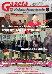 temat numeru wydania styczniowego: ślubowanie burmistrzów w Mosinie i Puszczykowie