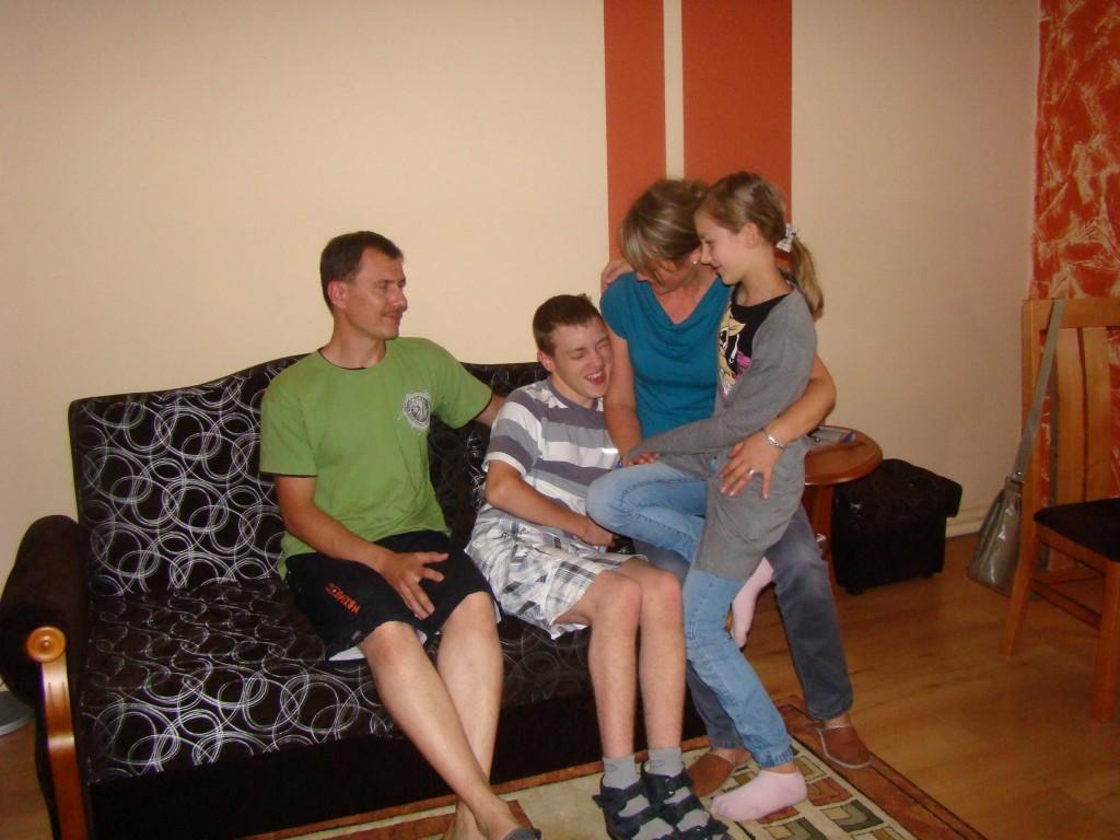 Patryk z rodziną