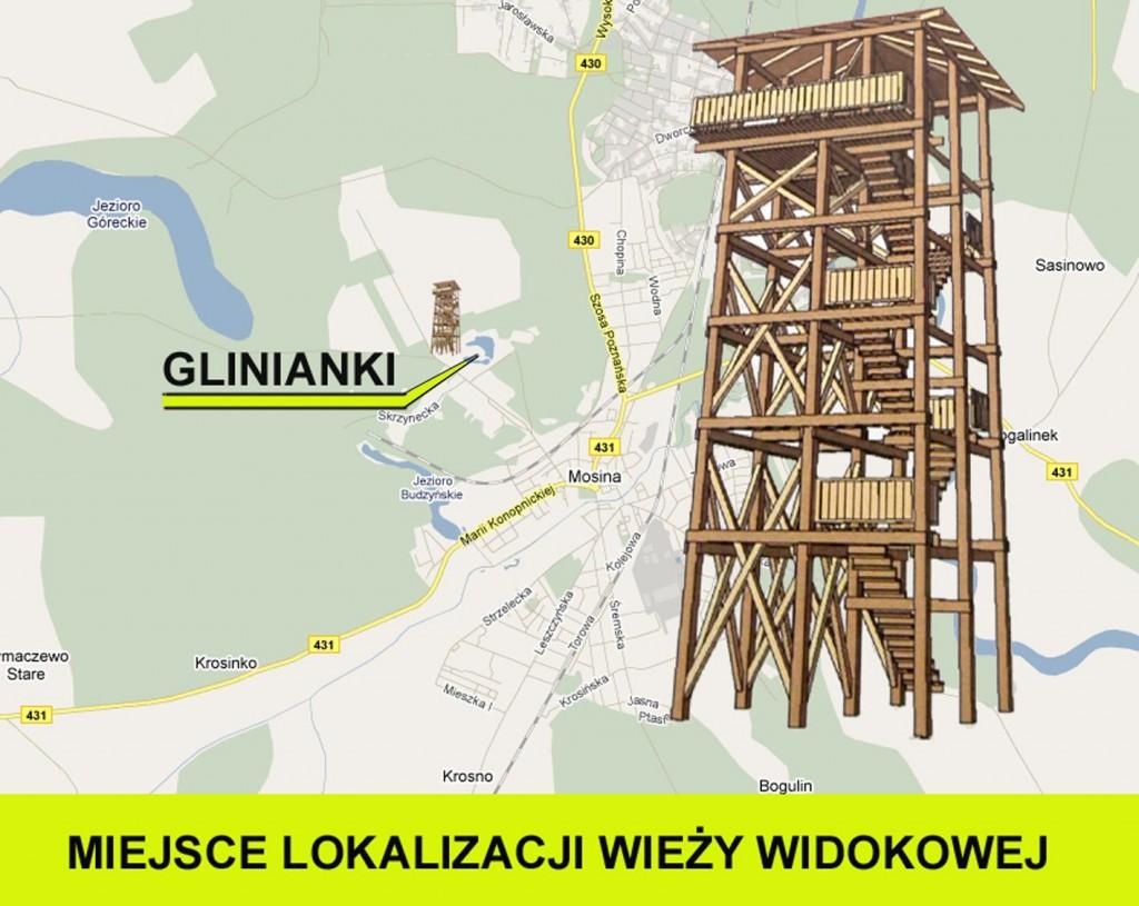 projekt wieży widokowej na pożegowskiej górze - miejsce lokalizacji