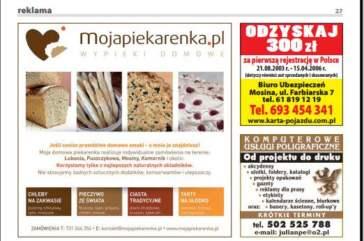 reklama w prasie lokalnej - przykład ogłoszeń