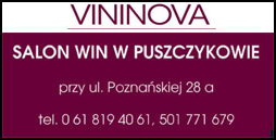 baner salonu win Vininowa w Puszczykowie