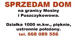 Sprzedam Dom w Mosinie
