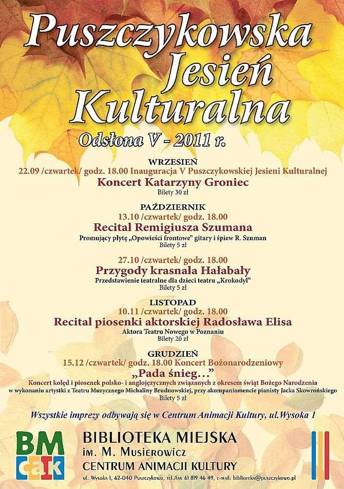 Puszczykowska Jesień Kulturalna - plakat