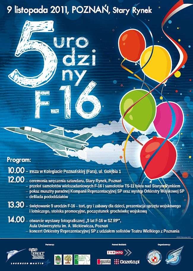 program imprezy - urodziny samolotów F-16 w Poznaniu