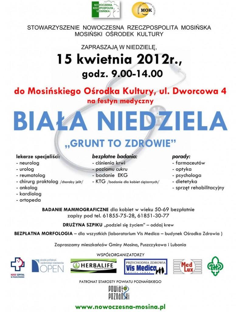festyn BIAŁA NIEDZIELA 2012 - plakat