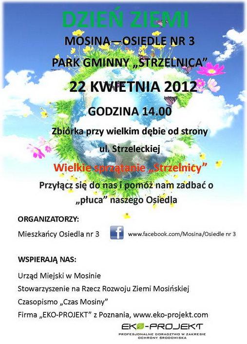 Światowy Dzień Ziemi w Mosinie - plakat