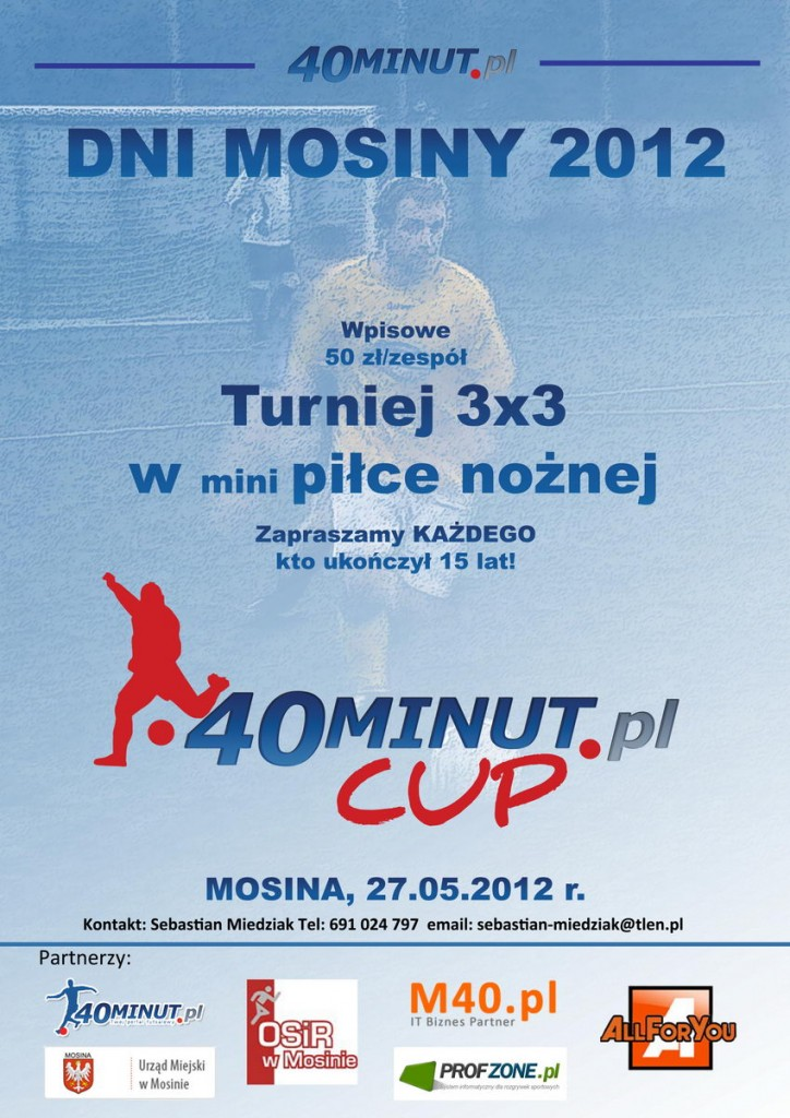Turniej piłki nożnej w Mosinie