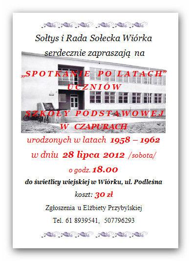 spotkanie w Czapurach - informacje