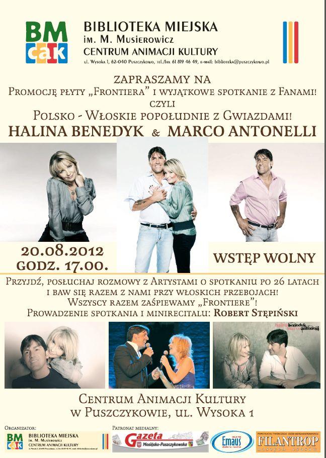 spotkanie z Haliną Benedyk i Marco Antonellim w Puszczykowie