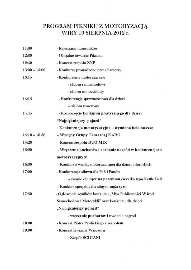 Program II Piknik z Motoryzacją
