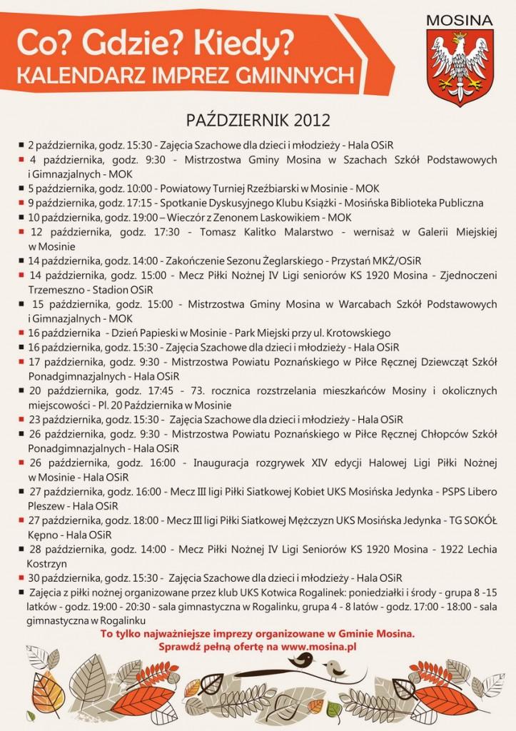 kalendarz imprez gminnych w gminie Mosina