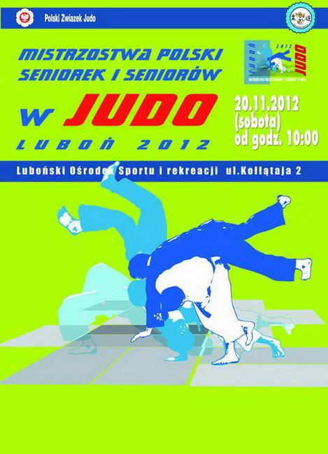 Plakat mistrzostw Judo w Luboniu