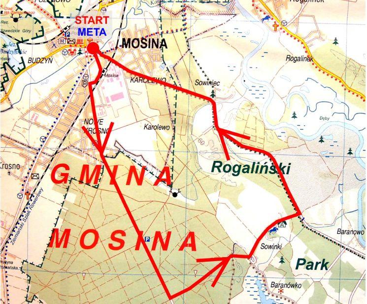 Nowa trasa biegu w Mosinie