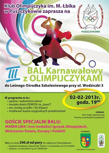 Leśny Ośrodek Szkoleniowy w Puszczykowie organizuje III Bal z Olimpijczykami