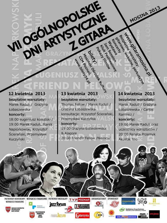 Dni artystyczne z gitarą Mosina 2013 - plakat