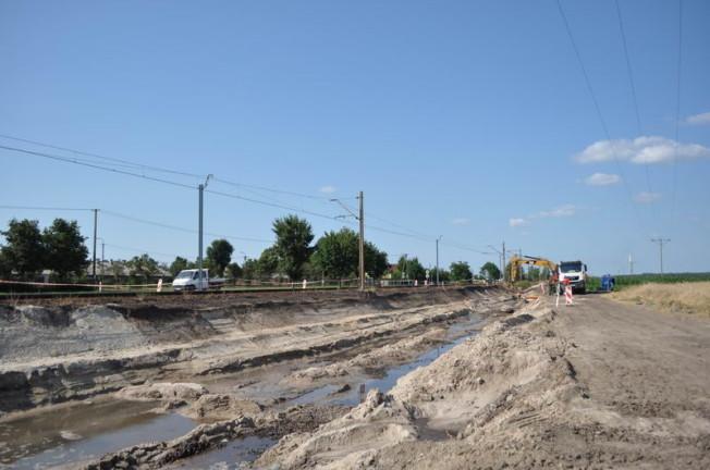 Remont trasy kolejowej Poznań Czempiń - wysokość Drużyna - tory