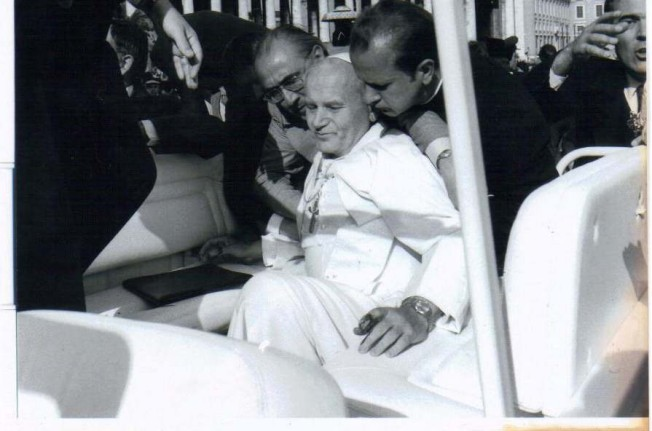 Zamach na Jana Pawła II - moment zamachu