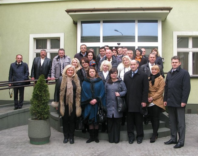 delegacja z Ukrainy w Mosinie zdjęcie zbiorowe