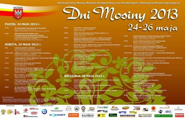 Plakat Dni Mosiny 2013