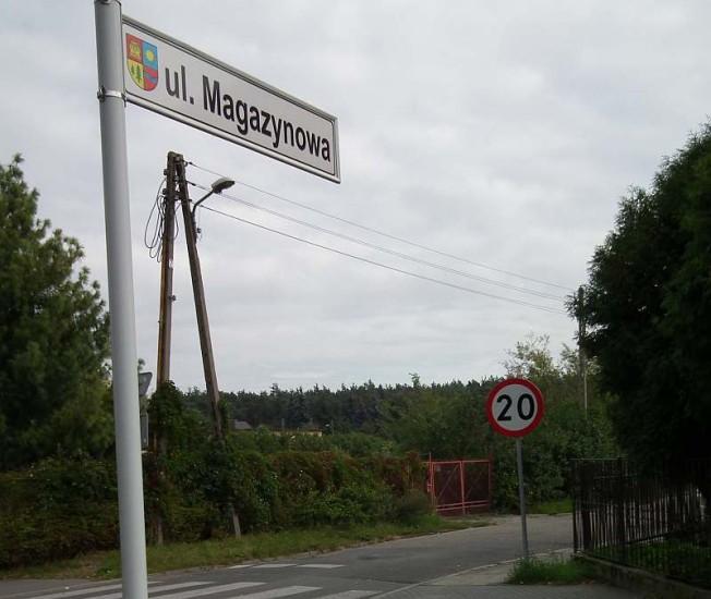ulica Magazynowa w Puszczykowie