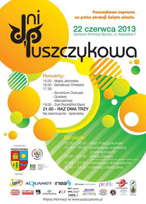 plakat i program Dni puszczykowa 2013