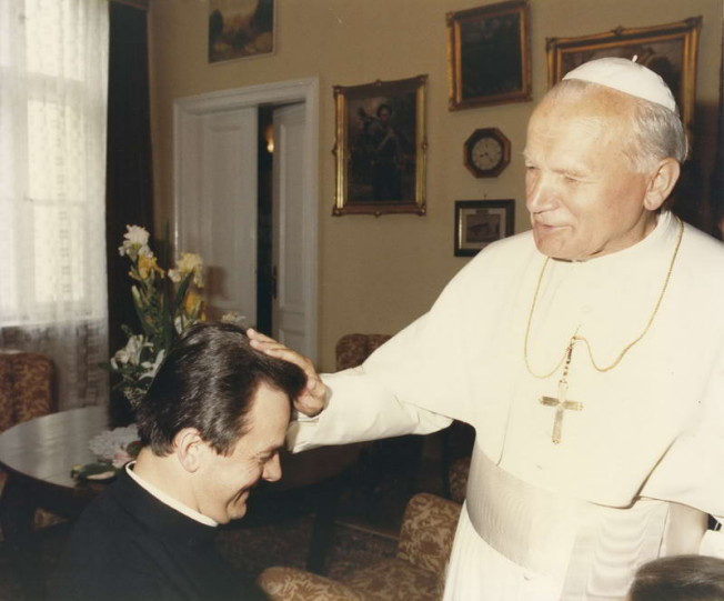 Błogosławieństwo Brata Mariana przez Jana Pawała II