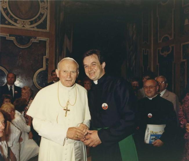 Jan Paweł II z pielgrzymką z Leszna Wlkp. - czerwiec 1988