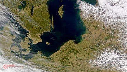 pogoda nad bałtykiem - zdjęcie satelitarne