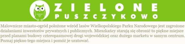 Zielone Puszczykowo logo