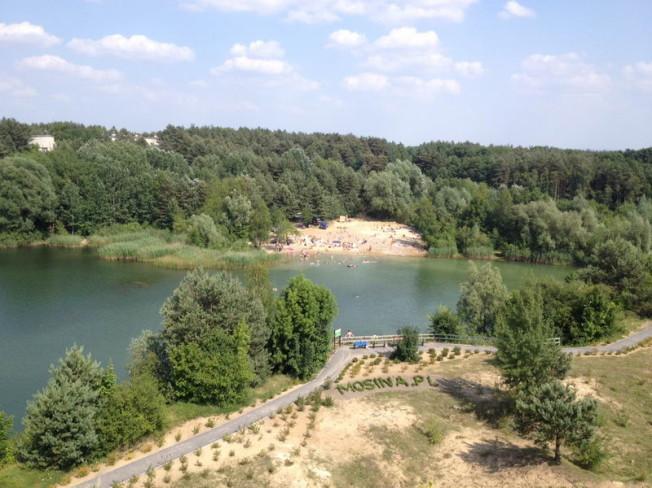 glinianki - widok z wieży widokowej na Pożegowie