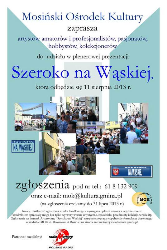 Mosina - Szeroko na Wąskiej (plakat)