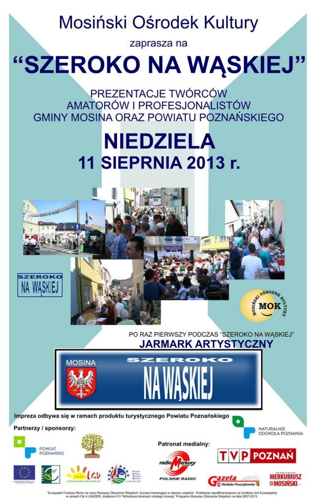 Szeroko na Waskiej w Mosinie - plakat