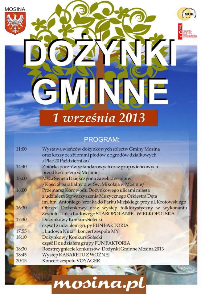 gmina mosina - dozynki gminne 2013