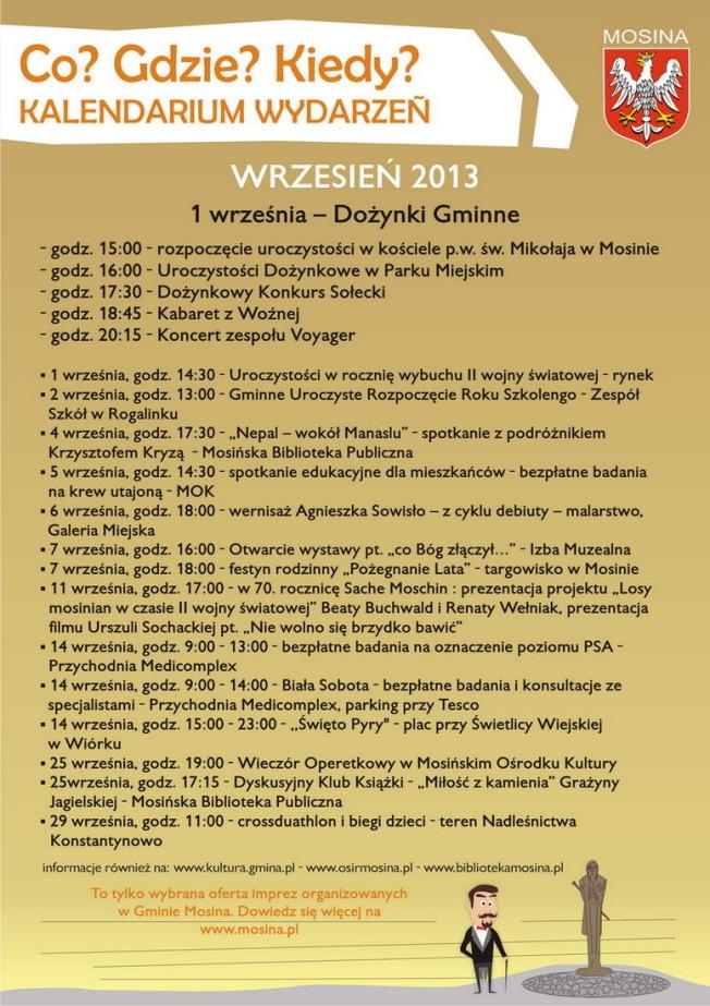 kalendarz imprez - SIERPIEN