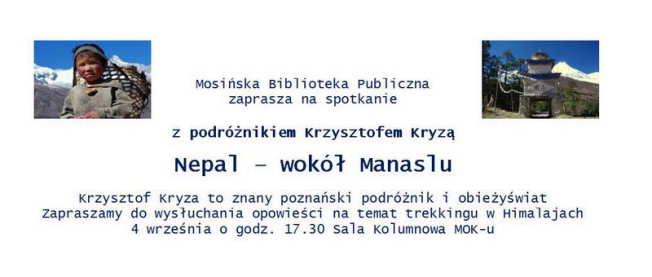 Krzysztof Kryza w Mosinie