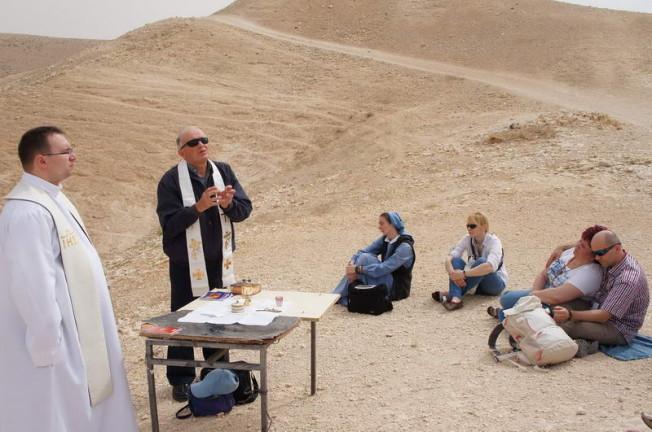 Msza św. na Pustyni Judzkiej
