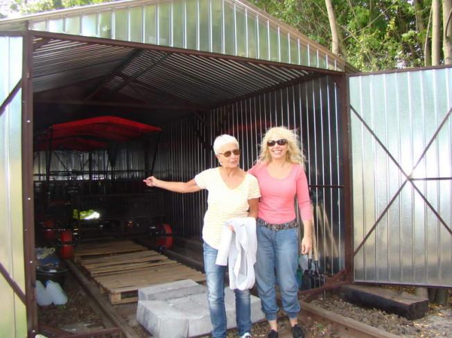 kolej drezynowa - garaż na drezyny