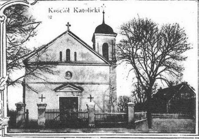 kościół katolicki Mosina (historyczne zdjęcie)