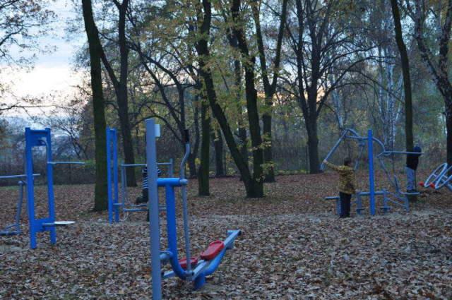 dotychczasowe urządzenia rekreacyjne w Ptasim Parku