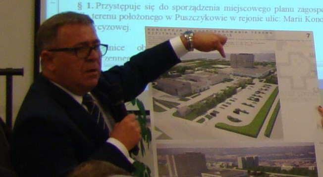 projektowane osiedle przy szpitalu w Puszczykowie - starosta poznański Jan Grabkowski