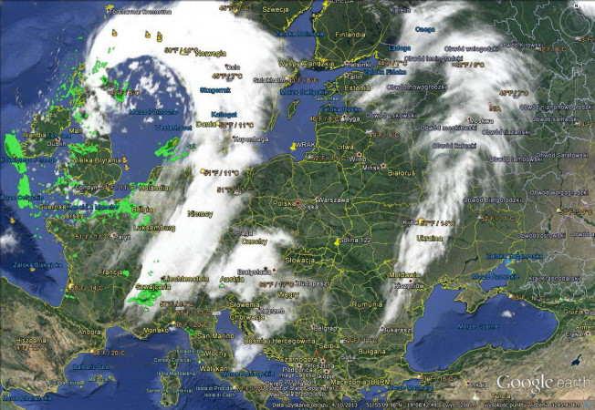 zdjęcie satelitarne z kamer meteo -prognozna na zimę 2014