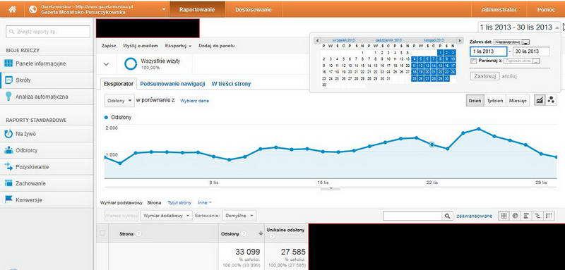 Google Analytics statystyki