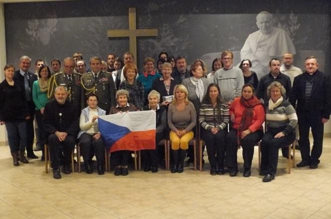 Goście z Czech w sali JP II