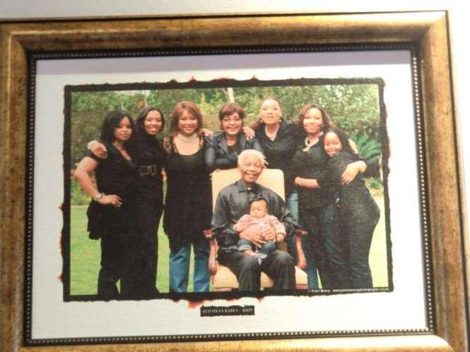 Zdjęcie rodzinne Nelsona Mandeli