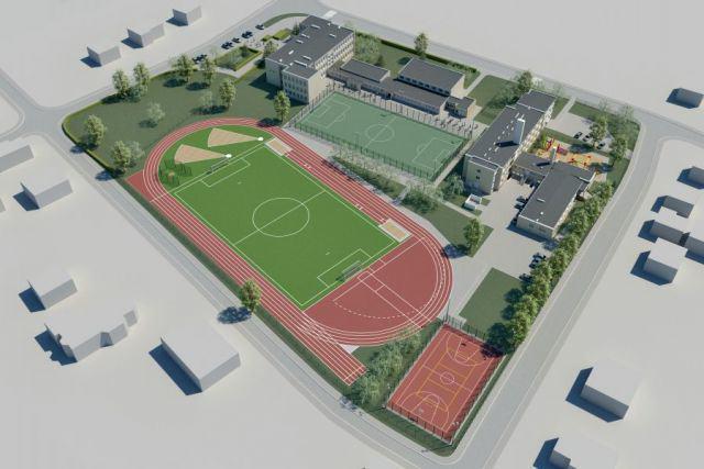 stadion lekkoatletyczny - projekt - widok z góry