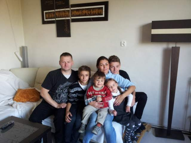 Rodzina Matusiaków z synami