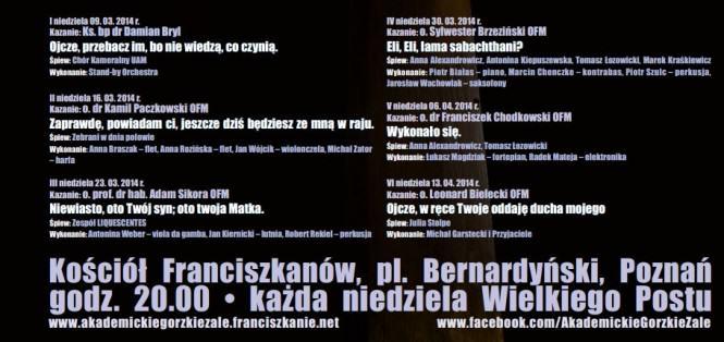 IV Akademickie Gorzkie Żale 2014