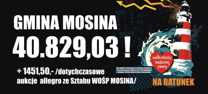WOŚP 2014 - podsumowanie - 40 829,03 zł