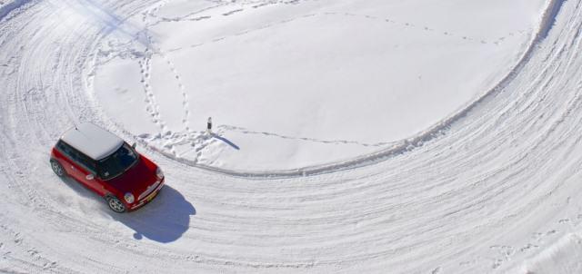 poslizg zima jazda